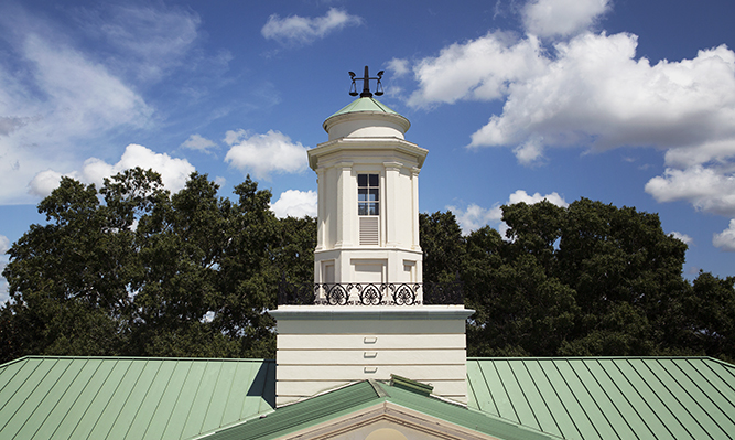 image of hirsch hall cupola