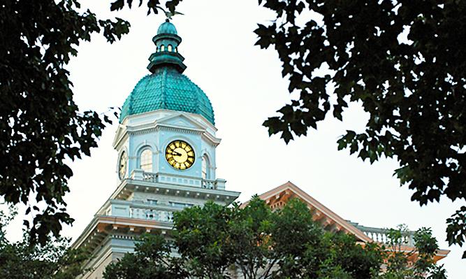downtown athens close up city hall