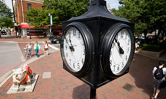 downtown athens clock