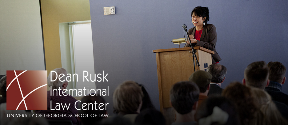 Loung Ung speaking in Rusk Walker Room