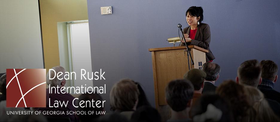 Loung Ung speaking in Rusk Walker Room