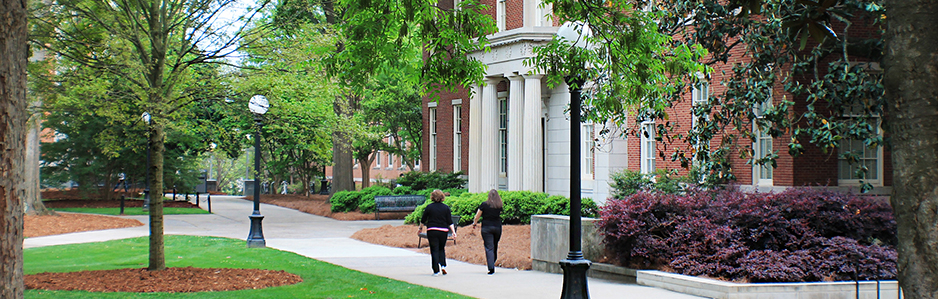 front of hirsch hall and sidewalk