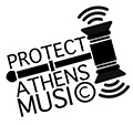 protect athens music logo