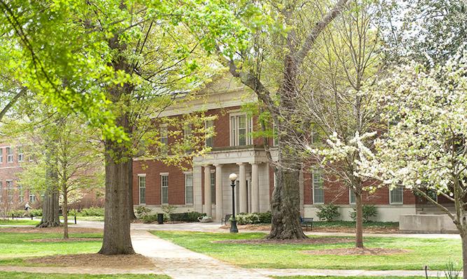 north campus in spring