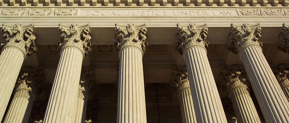 columns of courthouse