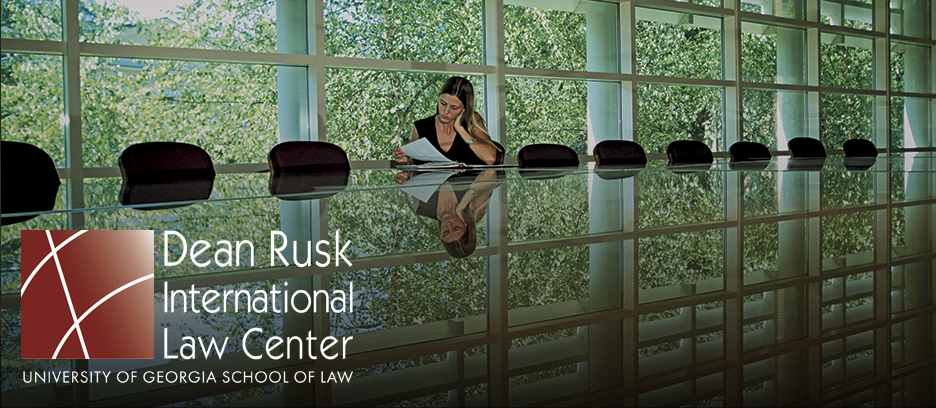 student in rusk hall's sanders boardroom