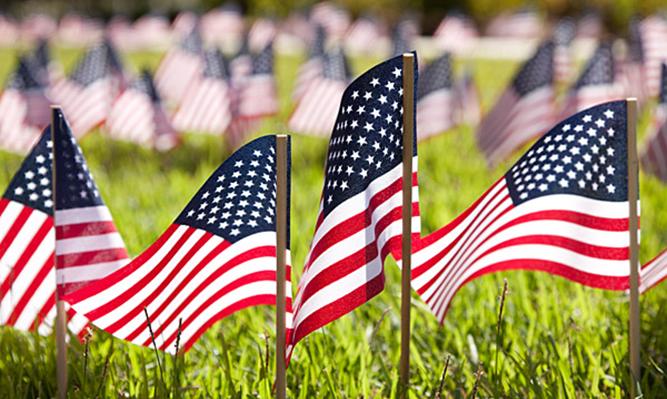 flags memorial