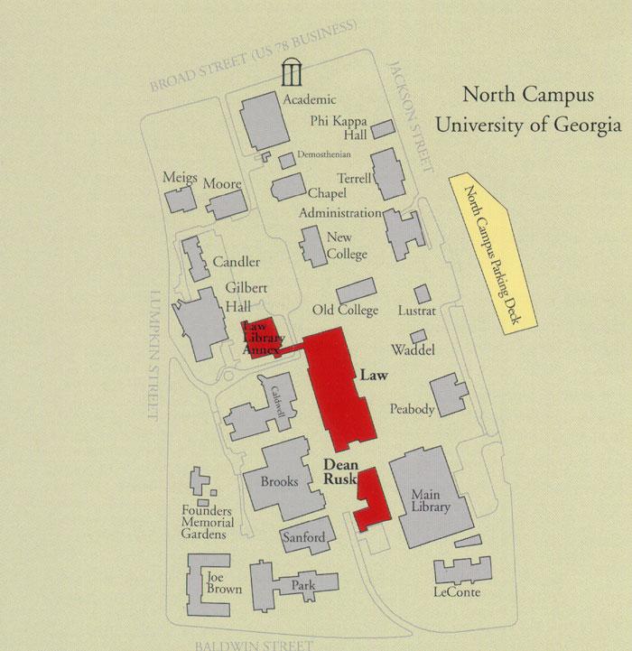 Uga Campus Map Parking & Campus Maps | .law.uga.edu Uga Campus Map